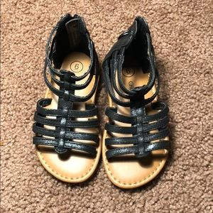 Cherokee black sandals toddler us 6